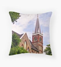 Old Church at Harpers Ferry, West Virginia Throw Pillow