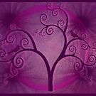 Purple Swirly Tree by tinymystic
