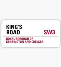 Kings Road London Street Sign Sticker