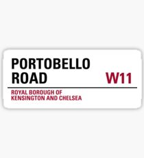 Portobello Road London Road Sign Sticker