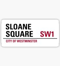 Sloane Square London Road Sign Sticker