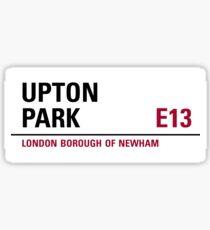 Upton Park London Road Sign Sticker