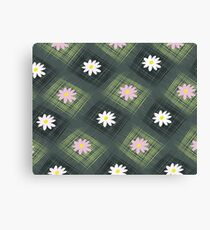 Abstract background flower and square Canvas Print