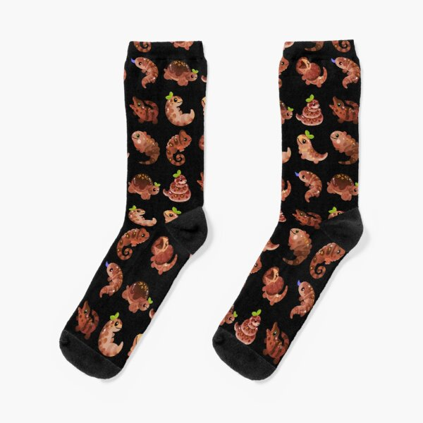 Chocolate Reptiles - dark Socks