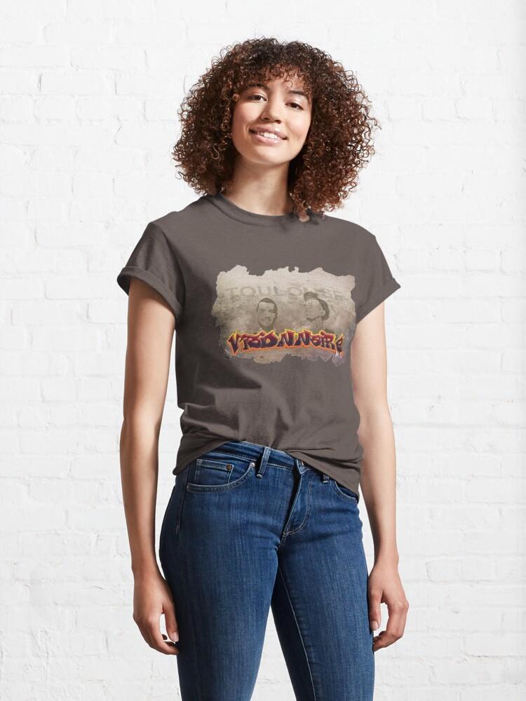 T-shirt classique ''Bigflo & Oli, fond Toulouse, street-art': autre vue
