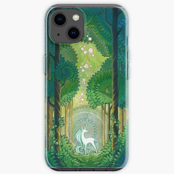 unicorn forest iPhone Soft Case