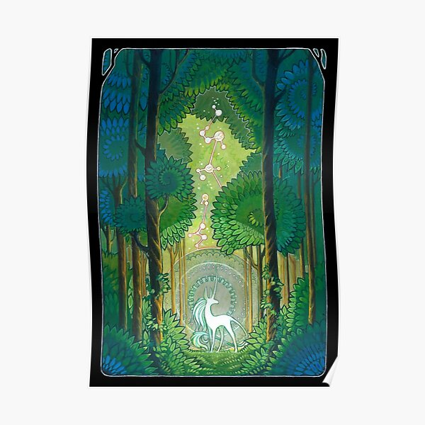 unicorn forest Poster