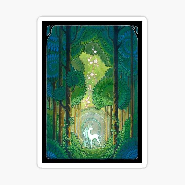 unicorn forest Sticker