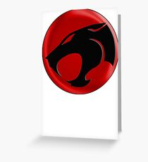 AVAILABLE SIZES S TO XXL, THUNDERCATS (BLACK)! Mens funny t-shirt Greeting Card