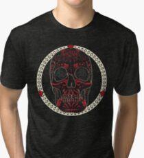 Crimson Calavera Tri-blend T-Shirt