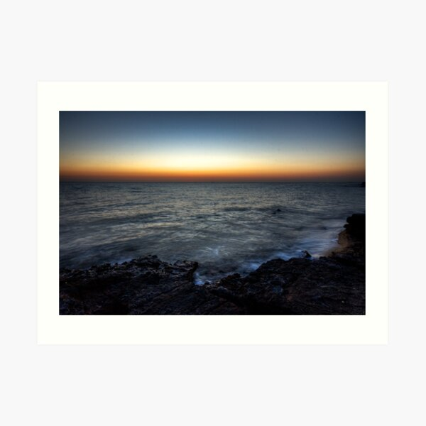 Black Rock Sunset Art Print