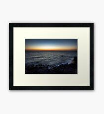 Black Rock Sunset Framed Print