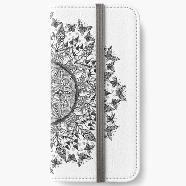 Butterfly Mandala iPhone Wallet