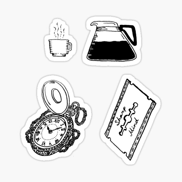 Three Random Objects Sticker