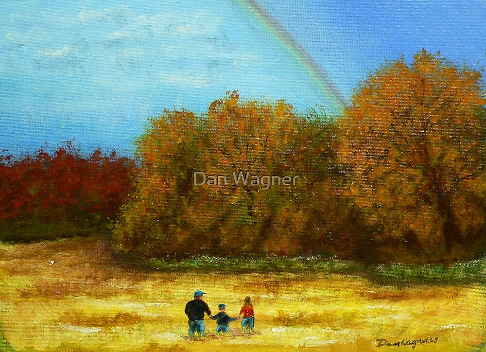 fall walk in the rain by Dan Wagner