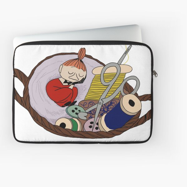 Little My in her Sewing Basket Laptop Sleeve