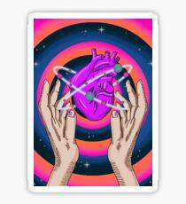 Raum Hände und Herz Sticker