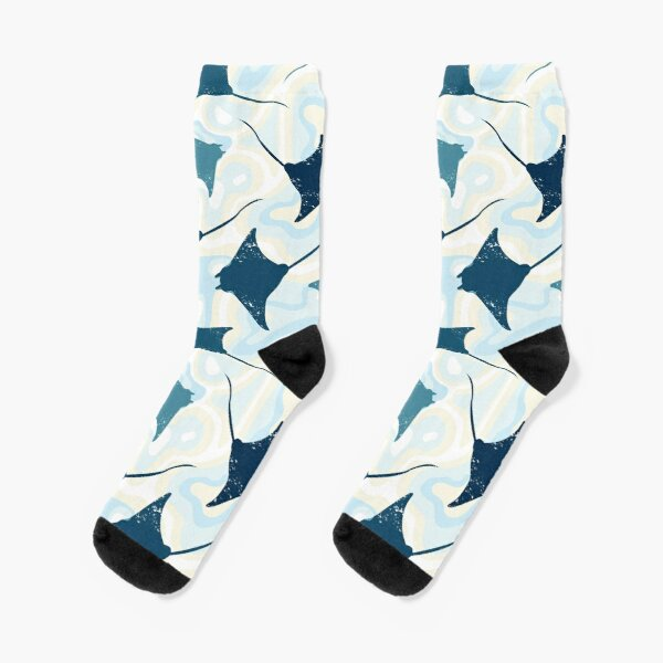 Seamless pattern with manta rays Socks