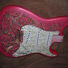 How Do You Like the Fuschia Pink Paisley Strat I'm building ? by mando13