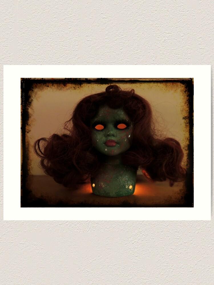 Alternate view of Zombie Horror Doll ~ Lady Scream Art Print