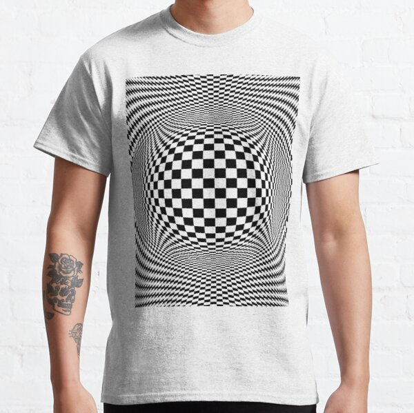 Optical Illusion, visual illusion, #OpticalIllusion, #visualillusion, #Optical, #Illusion, #visual Classic T-Shirt