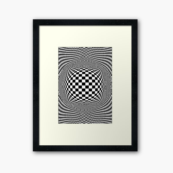 Optical Illusion, visual illusion, #OpticalIllusion, #visualillusion, #Optical, #Illusion, #visual Framed Art Print