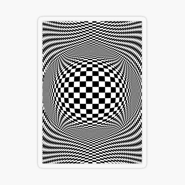 Optical Illusion, visual illusion, #OpticalIllusion, #visualillusion, #Optical, #Illusion, #visual Transparent Sticker