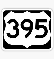 US Route 395 Sign Sticker