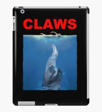 Claws Jaws Spoof parody Cute Sloth Hipster Premium Quality iPad Case/Skin