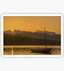 Sunset on Lake Windermere Sticker