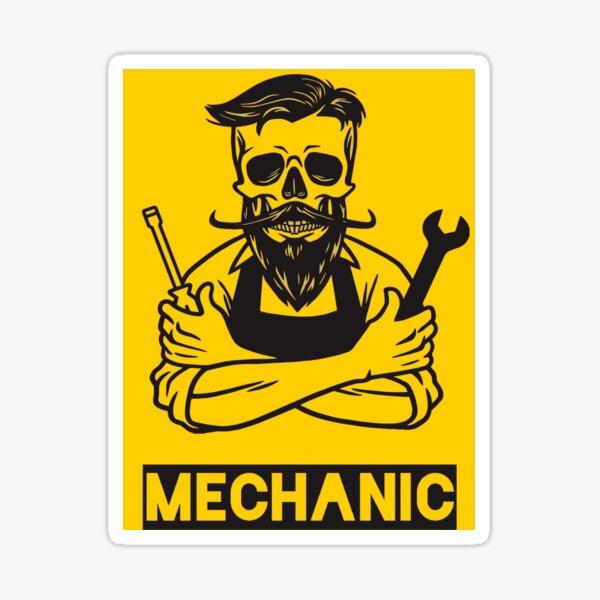 Le mécanicien - Ingénieur garage automobile Art Vintage Sticker