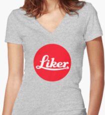 leica liker Women's Fitted V-Neck T-Shirt