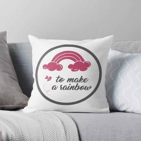 To Make A Rainbow Throw Pillow