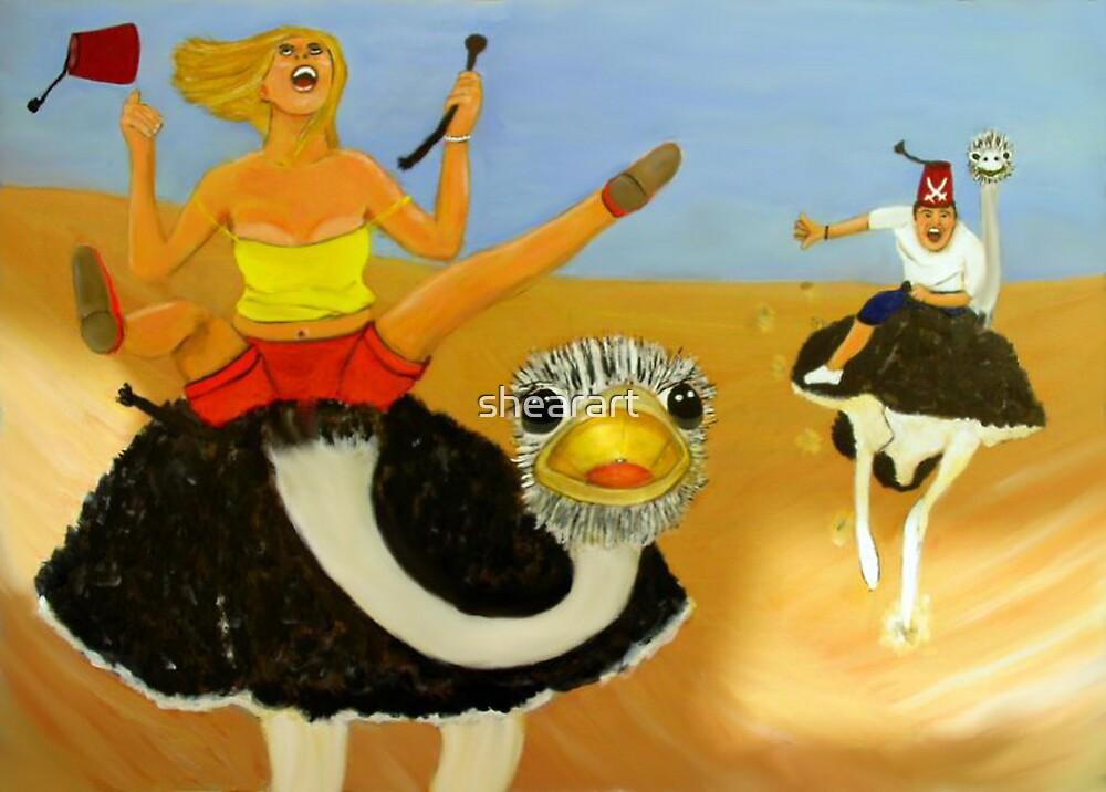 Ostrich race by shearart