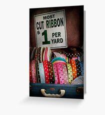 Sewing - Ribbon by the yard Greeting Card