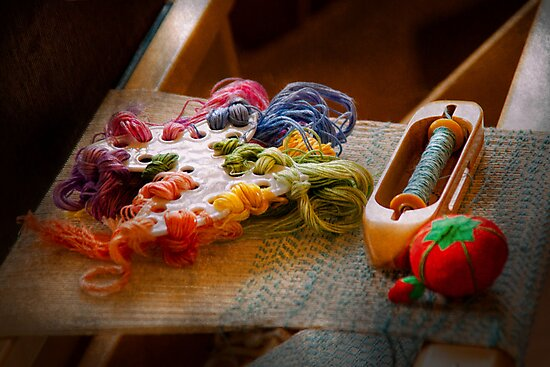 Sewing - Yarn - Threads of time by Michael Savad