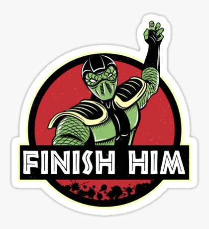 Finish Him Sticker