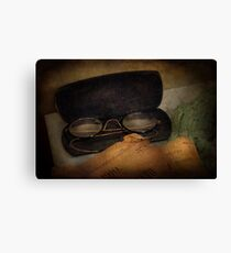 Optometrist - Glasses for Reading  Canvas Print