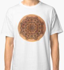 Red Mandala Transparent Background Classic T-Shirt