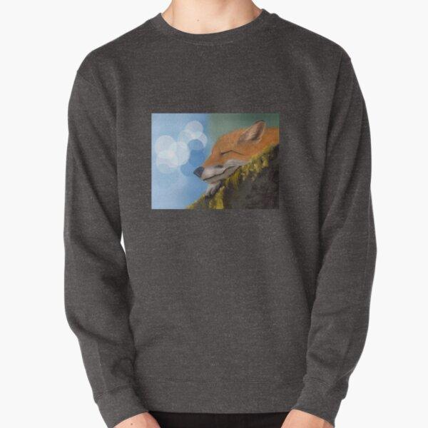 Napping Fox Pullover Sweatshirt