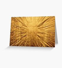 Cracked gold grunge texture Greeting Card