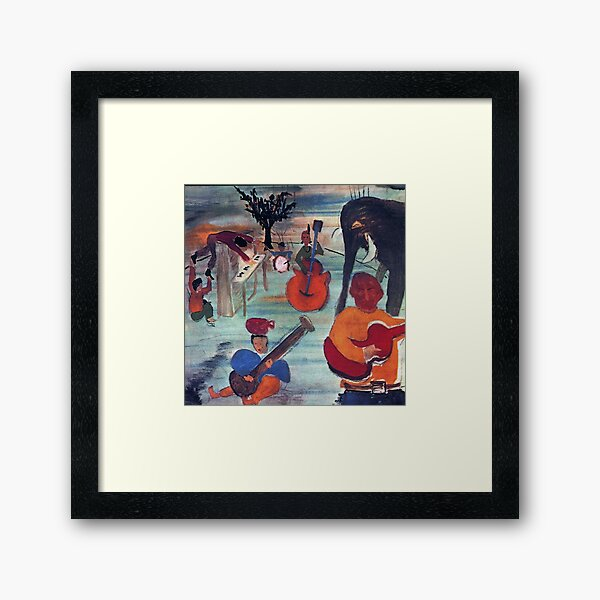 The Band Music from Big Pink (album cover) Framed Art Print
