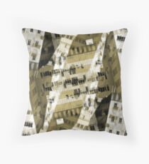Abstract city buildings Throw Pillow