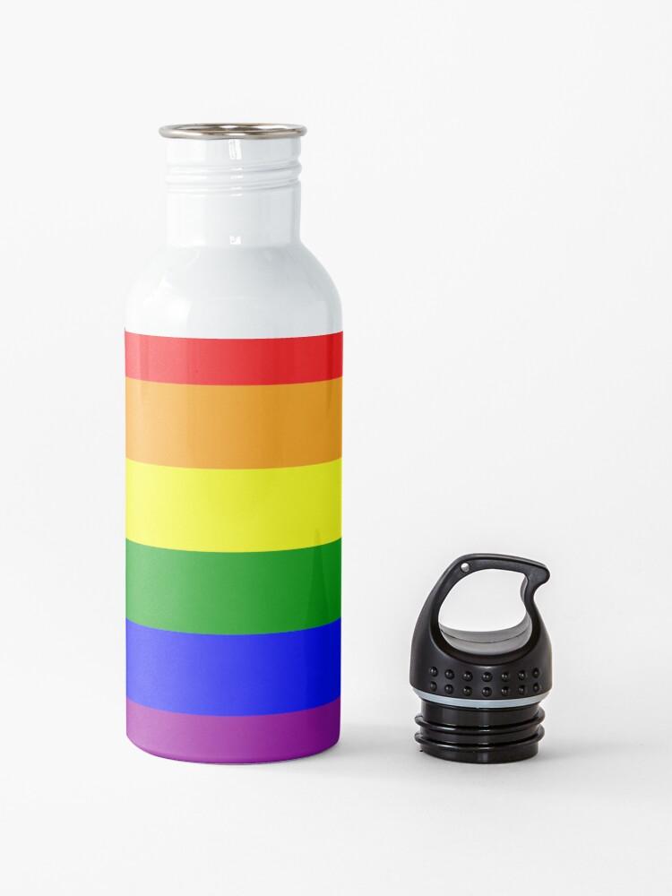 Alternate view of GAY. Gay Pride. Rainbow Flag. LGBT. Pride Flag. Water Bottle