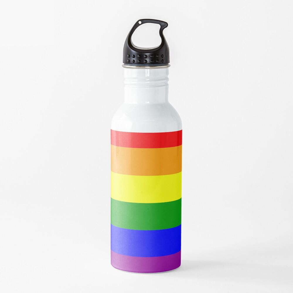 GAY. Gay Pride. Rainbow Flag. LGBT. Pride Flag. Water Bottle