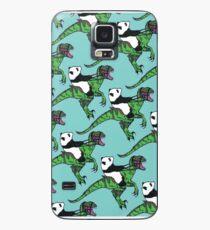Jurassic Panda logo print blue Case/Skin for Samsung Galaxy