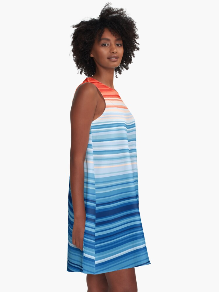 Alternate view of Climate Change Stripes A-Line Dress