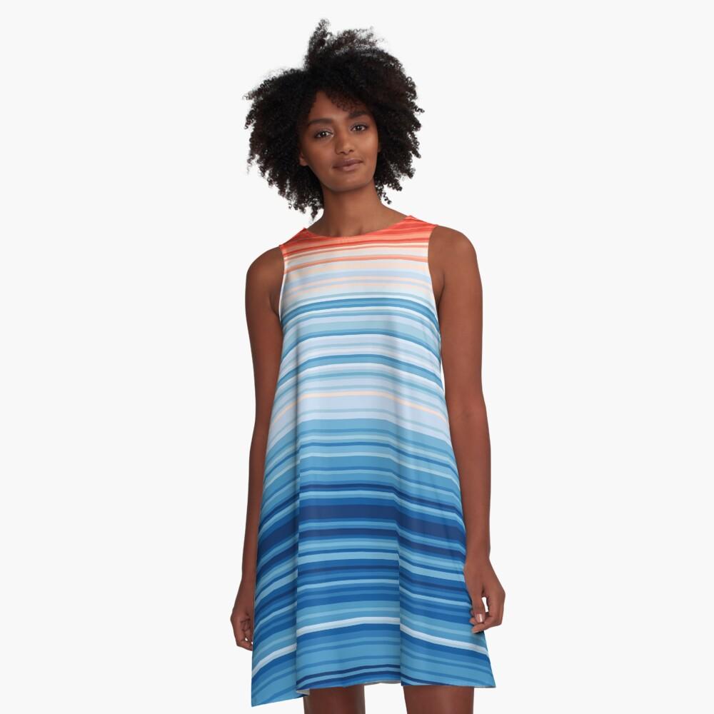 Climate Change Stripes A-Line Dress
