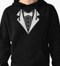 Funny T-Shirt Tuxedo Wedding Groom Tie Shirt Prom Tee Fake Tux Bachelor S - 5XL Pullover Hoodie