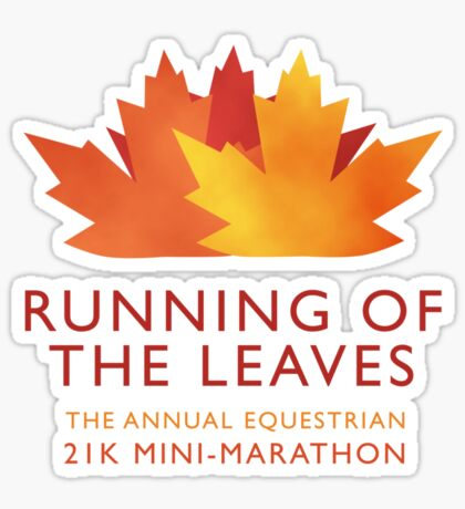 Running of the Leaves Sticker